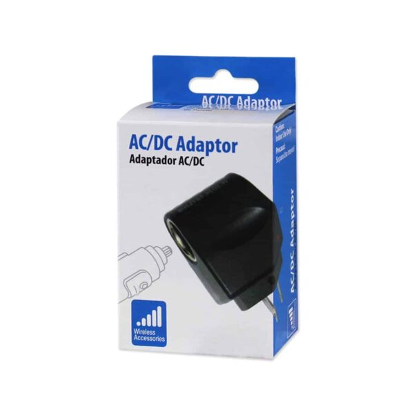 650MAH AC TO DC WALL ADAPTER TO CAR CHARGER IN BLACK