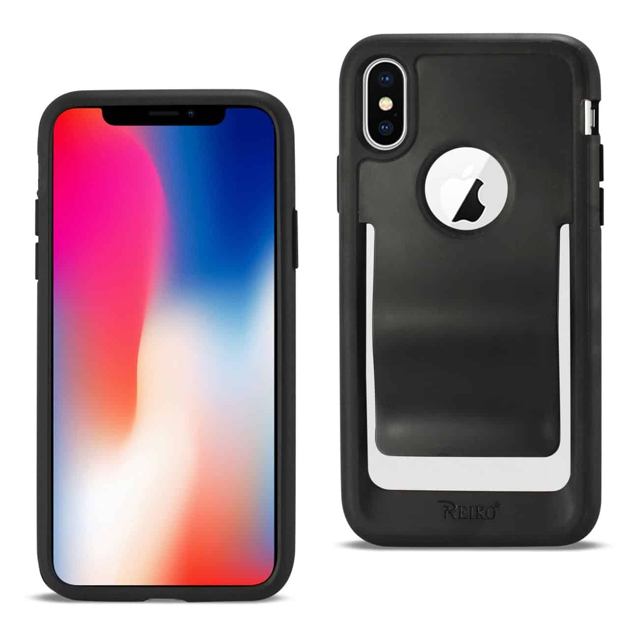 iPhone X Belt Clip Polymer Case In Black