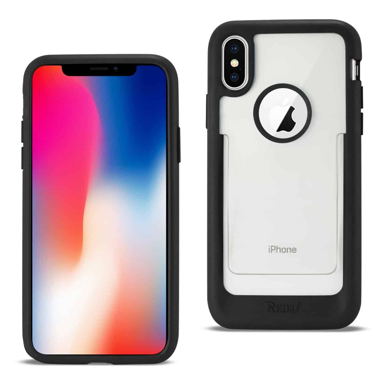 iPhone X Belt Clip Polymer Case In Clear Black