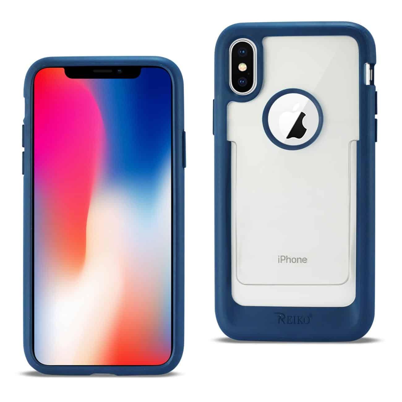 iPhone X Belt Clip Polymer Case In Clear Blue