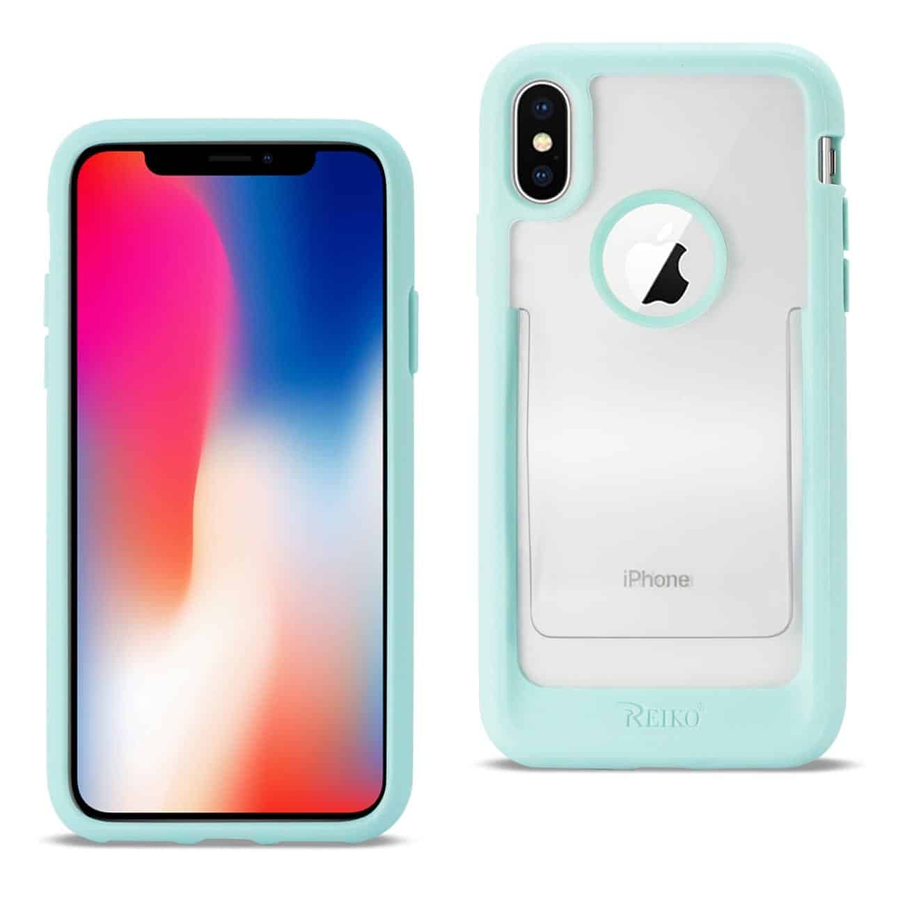 iPhone X Belt Clip Polymer Case In Clear Mint Green