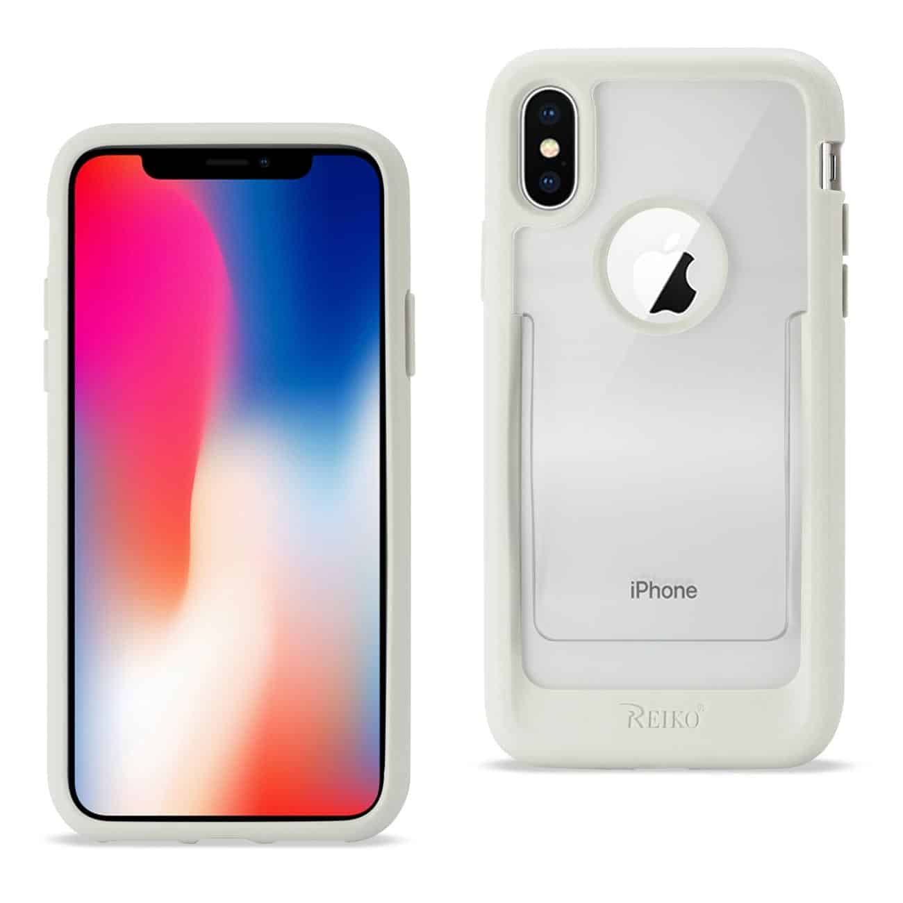 iPhone X Belt Clip Polymer Case In Clear White