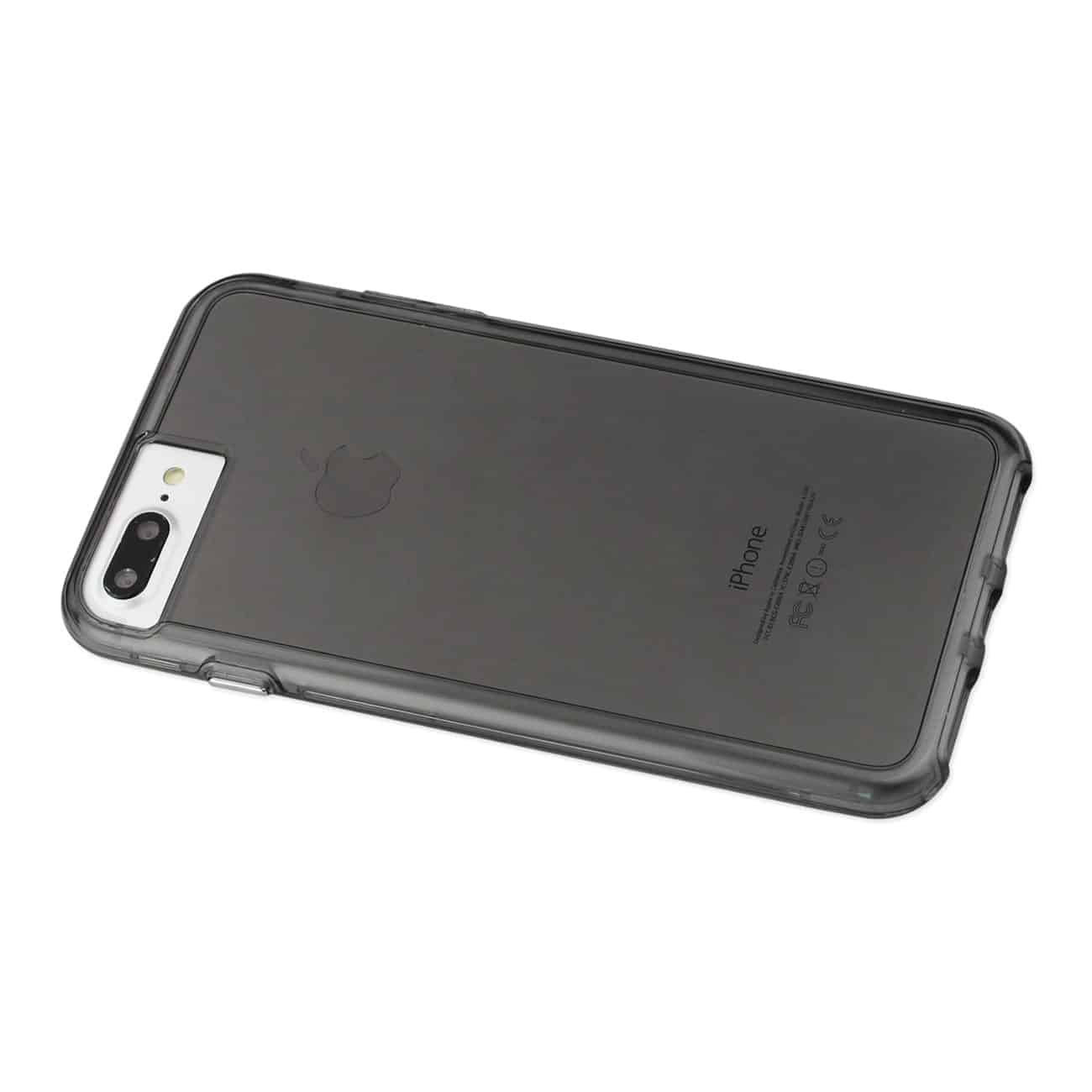 IPHONE 7 PLUS TRANSPARENT TPU HARD PROTECTOR COVER WITH INNER EXTRA BUMPER IN CLEAR GRAY
