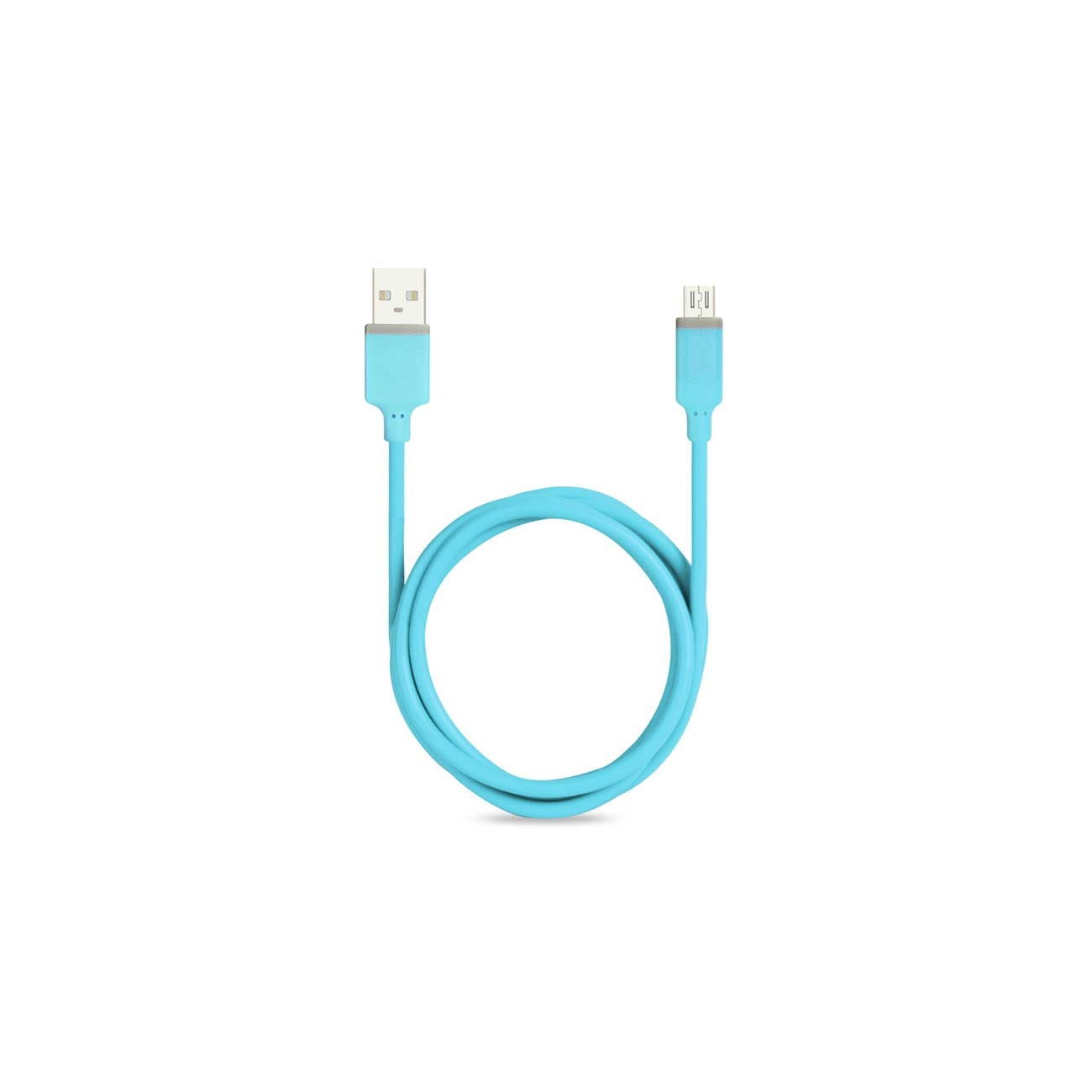 MICRO USB CAR CHARGER WITH DATA USB CABLE IN BLUE