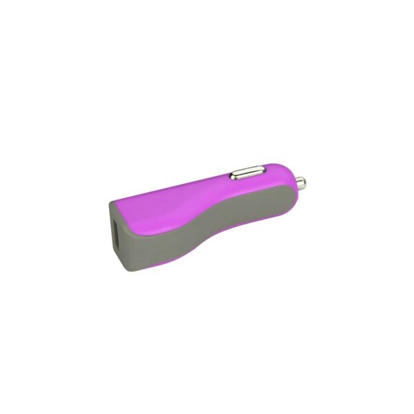 MICRO USB CAR CHARGER WITH DATA USB CABLE IN PURPLE