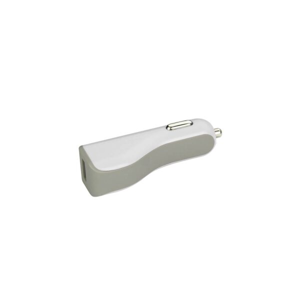 MICRO USB CAR CHARGER WITH DATA USB CABLE IN WHITE