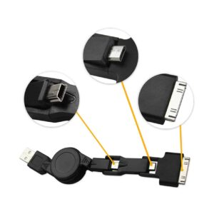 3-IN-1MALE TO DUAL STEREO AUDIO CABLE 3.3FT IN BLACK
