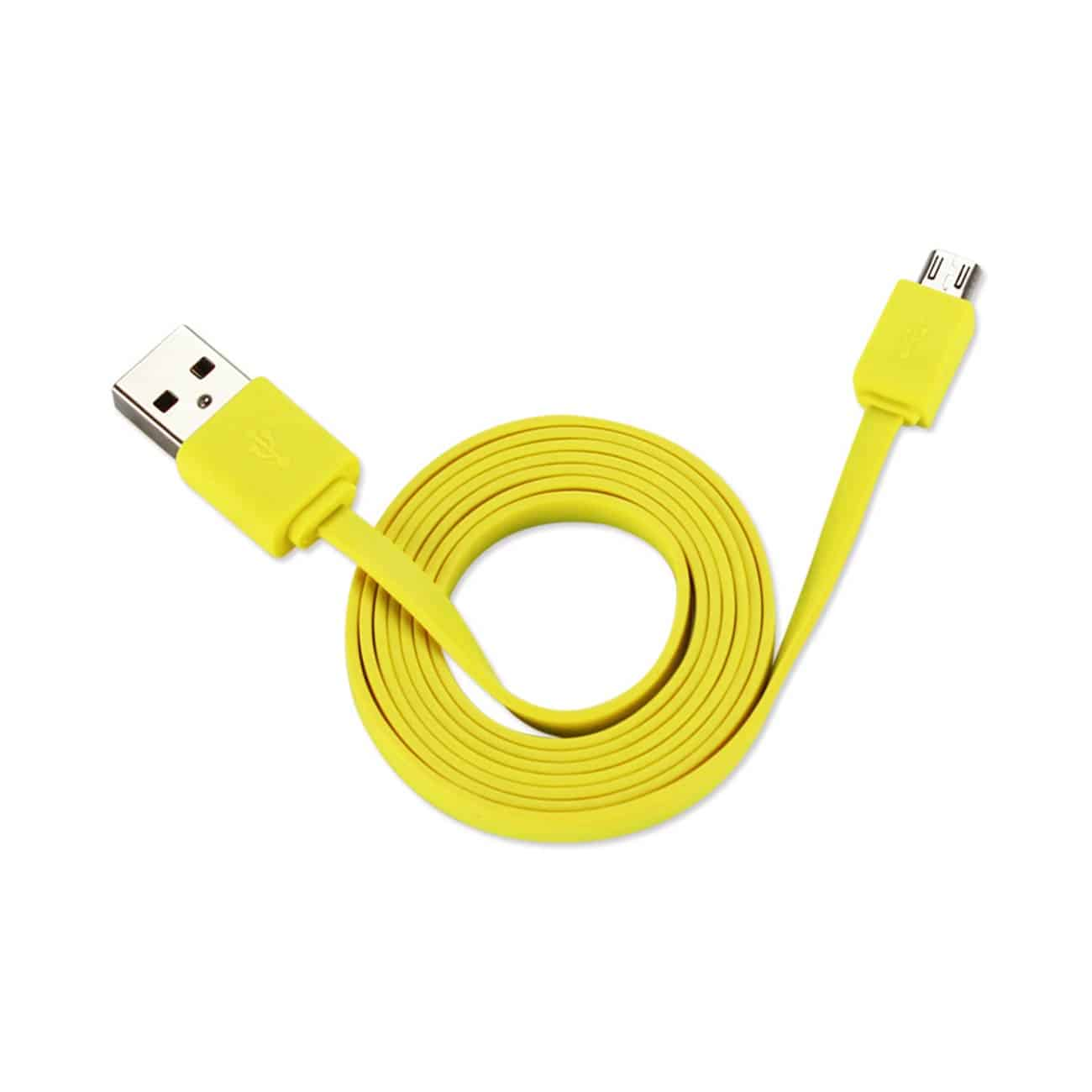 TANGLE FREE MICRO USB DATA CABLE 3.3FT IN YELLOW