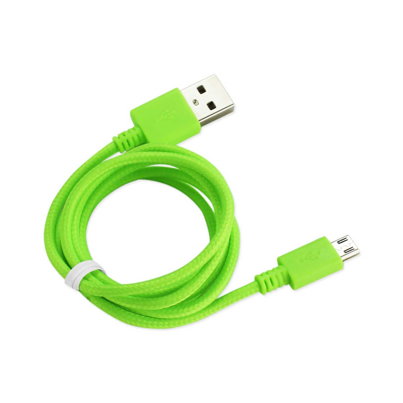 Braided Micro Usb Data Cable 3.3 Feet In Green