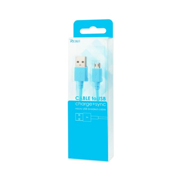 Braided Micro Usb Data Cable 3.3 Feet In Navy