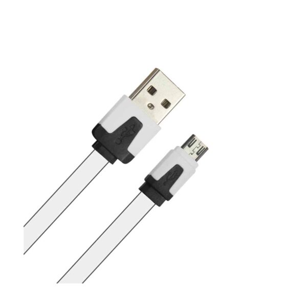 MICRO USB FLAT USB DATA CABLE 3.2FT IN WHITE