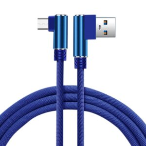 3.3FT Nylon braided Material Mircro USB 2.0 Data Cable In Blue
