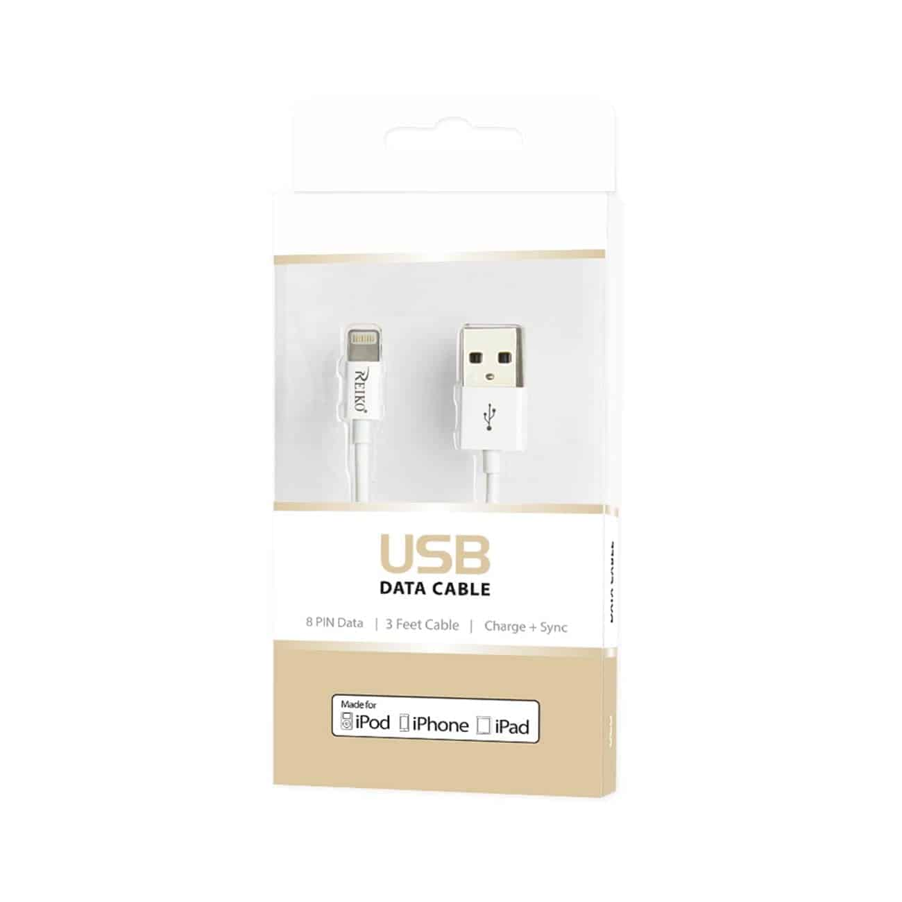IPHONE 6 3FT LIGHTING CERTIFIED USB DATA CABLE IN WHITE