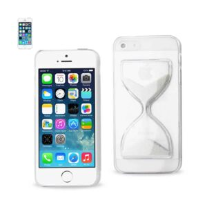 IPHONE SE/ 5S/ 5 3D SAND CLOCK CLEAR CASE IN WHITE