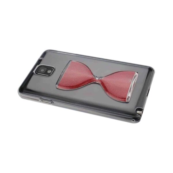 SAMSUNG GALAXY NOTE 3 3D SAND CLOCK CLEAR CASE IN RED