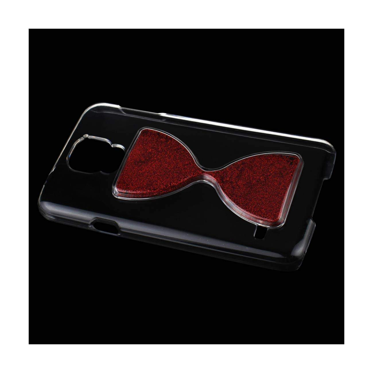 SAMSUNG GALAXY S5 3D SAND CLOCK CLEAR CASE IN RED