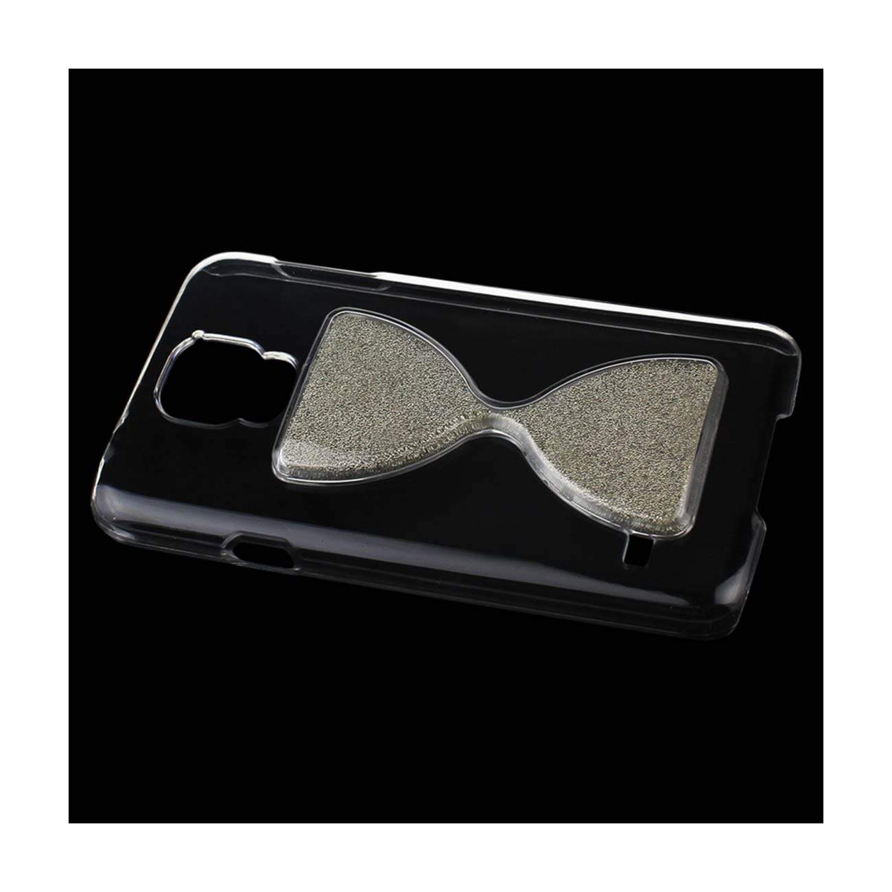SAMSUNG GALAXY S5 3D SAND CLOCK CLEAR CASE IN SILVER