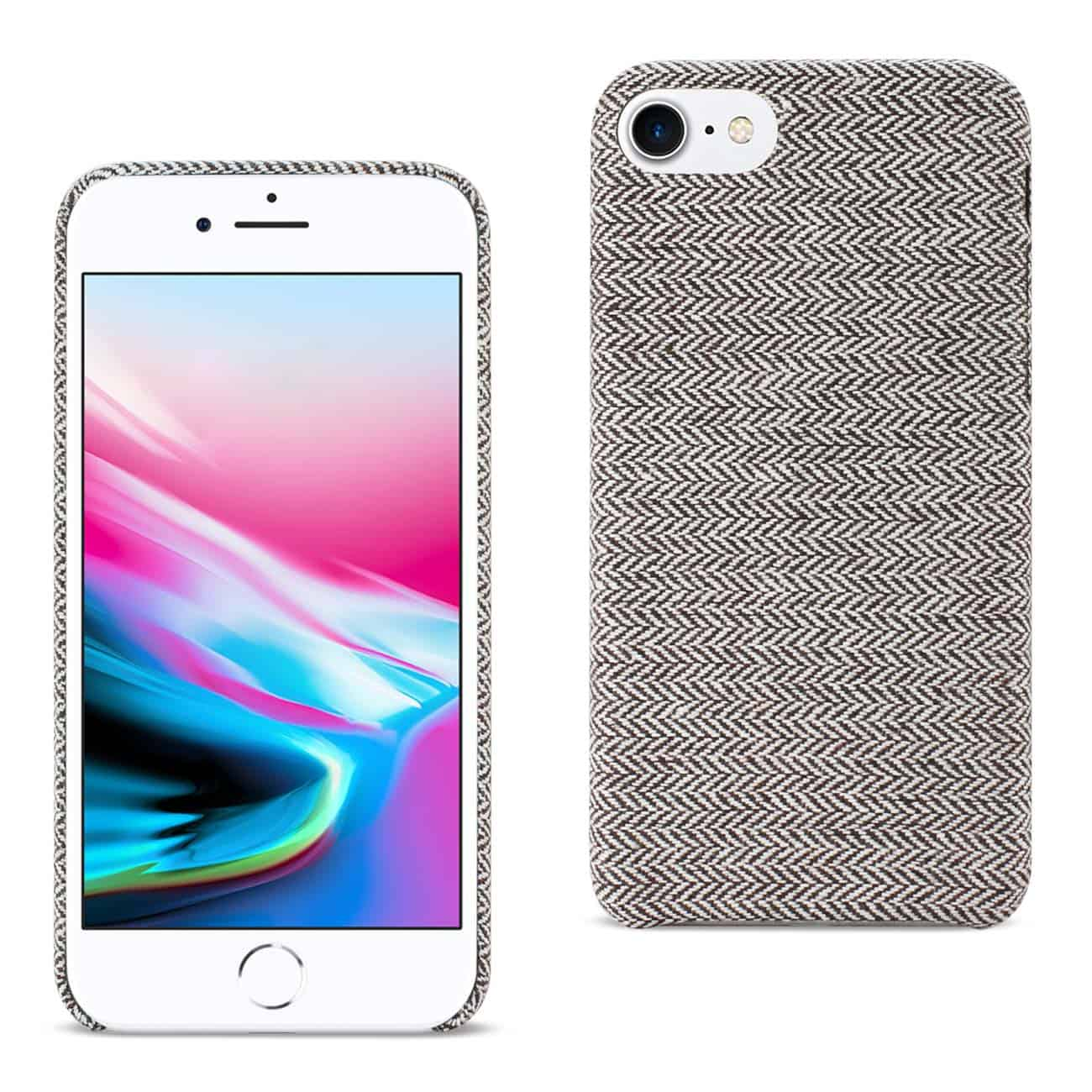 IPHONE 8 HERRINGBONE FABRIC IN DARK GRAY
