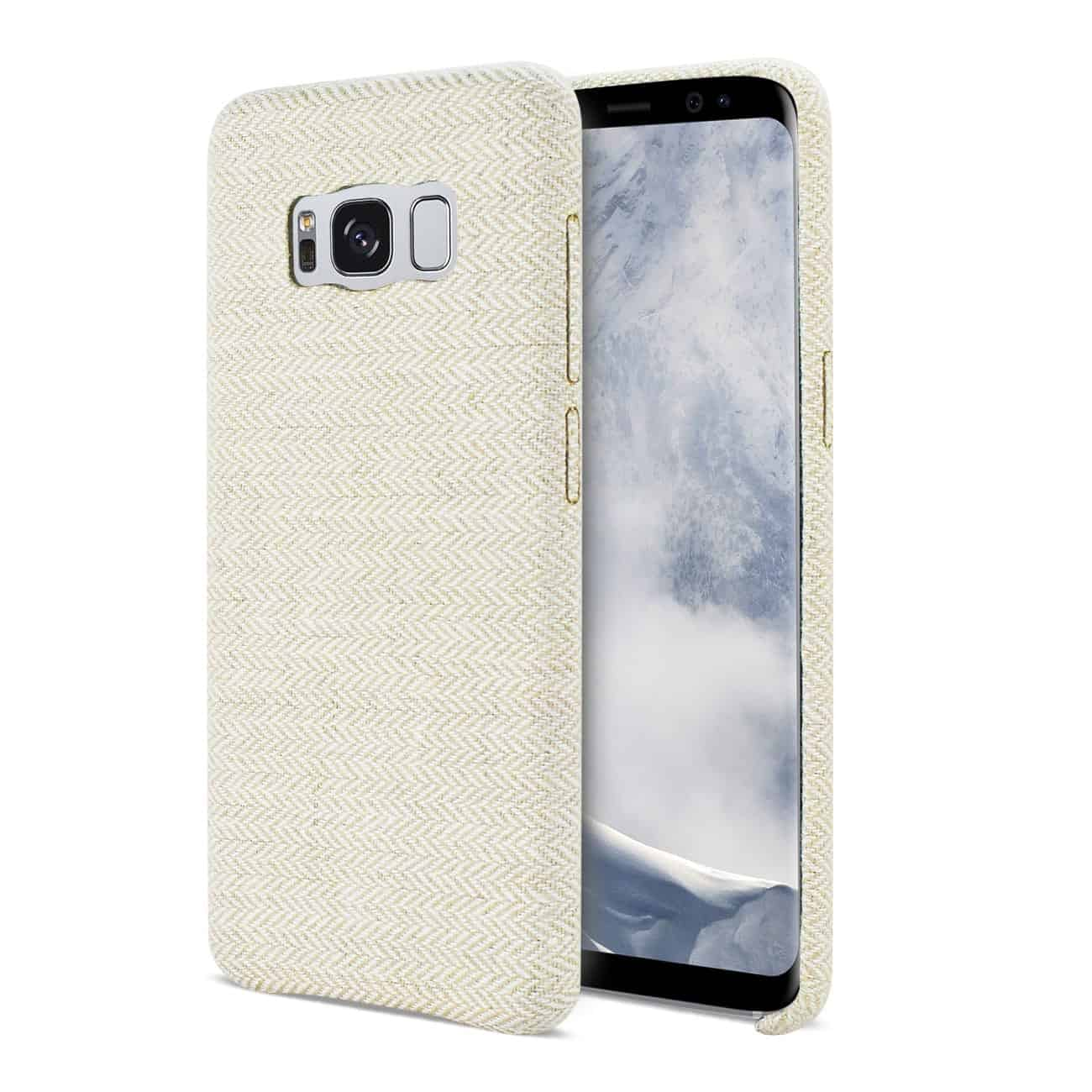 SAMSUNG GALAXY S8 EDGE HERRINGBONE FABRIC IN BEIGE