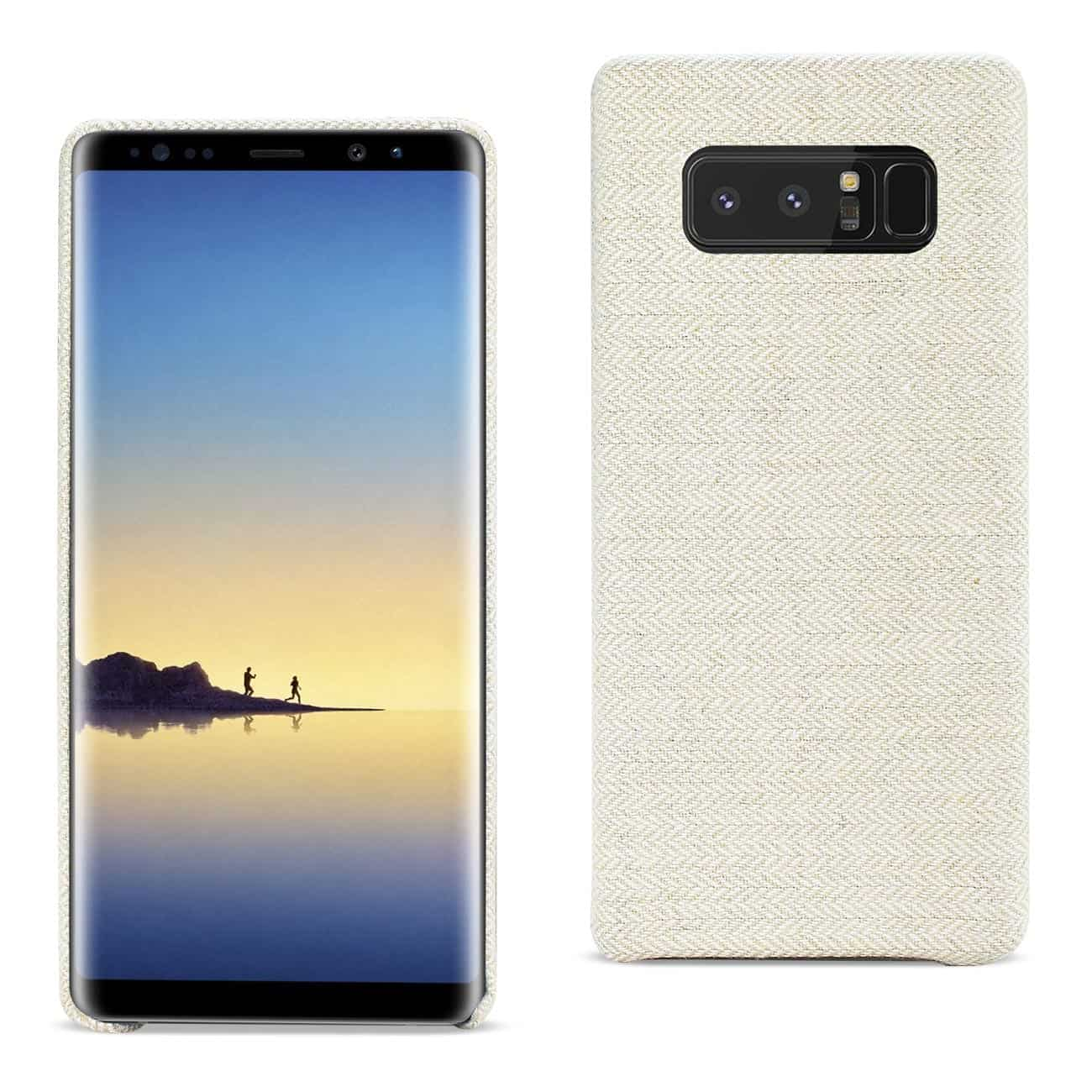 SAMSUNG GALAXY NOTE 8 HERRINGBONE FABRIC IN BEIGE