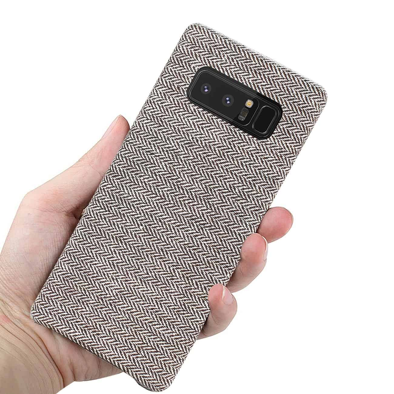 SAMSUNG GALAXY NOTE 8 HERRINGBONE FABRIC IN DARK GRAY
