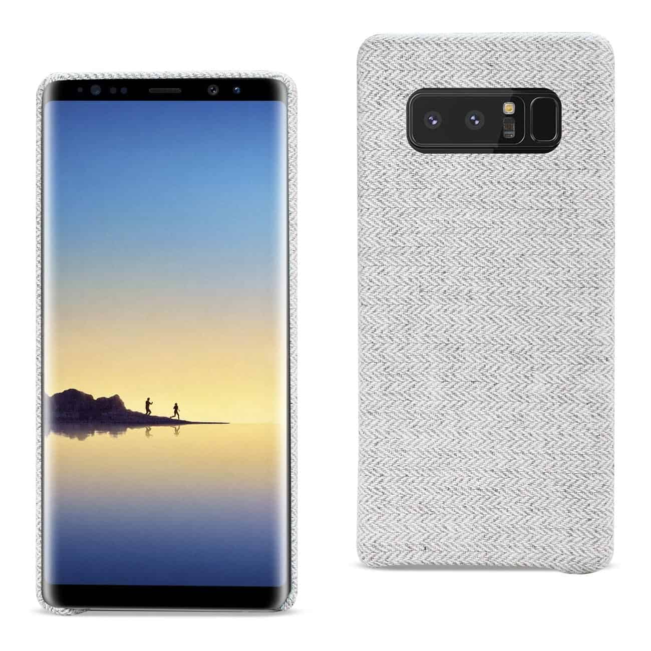 SAMSUNG GALAXY NOTE 8 HERRINGBONE FABRIC IN LIGHT GRAY