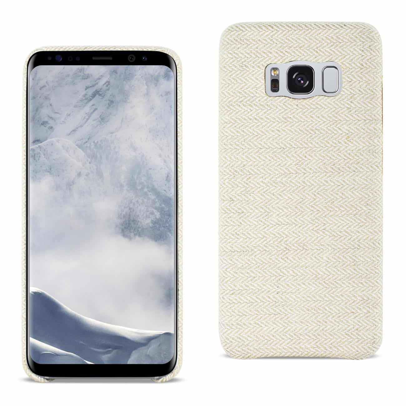 SAMSUNG GALAXY S8 HERRINGBONE FABRIC IN BEIGE