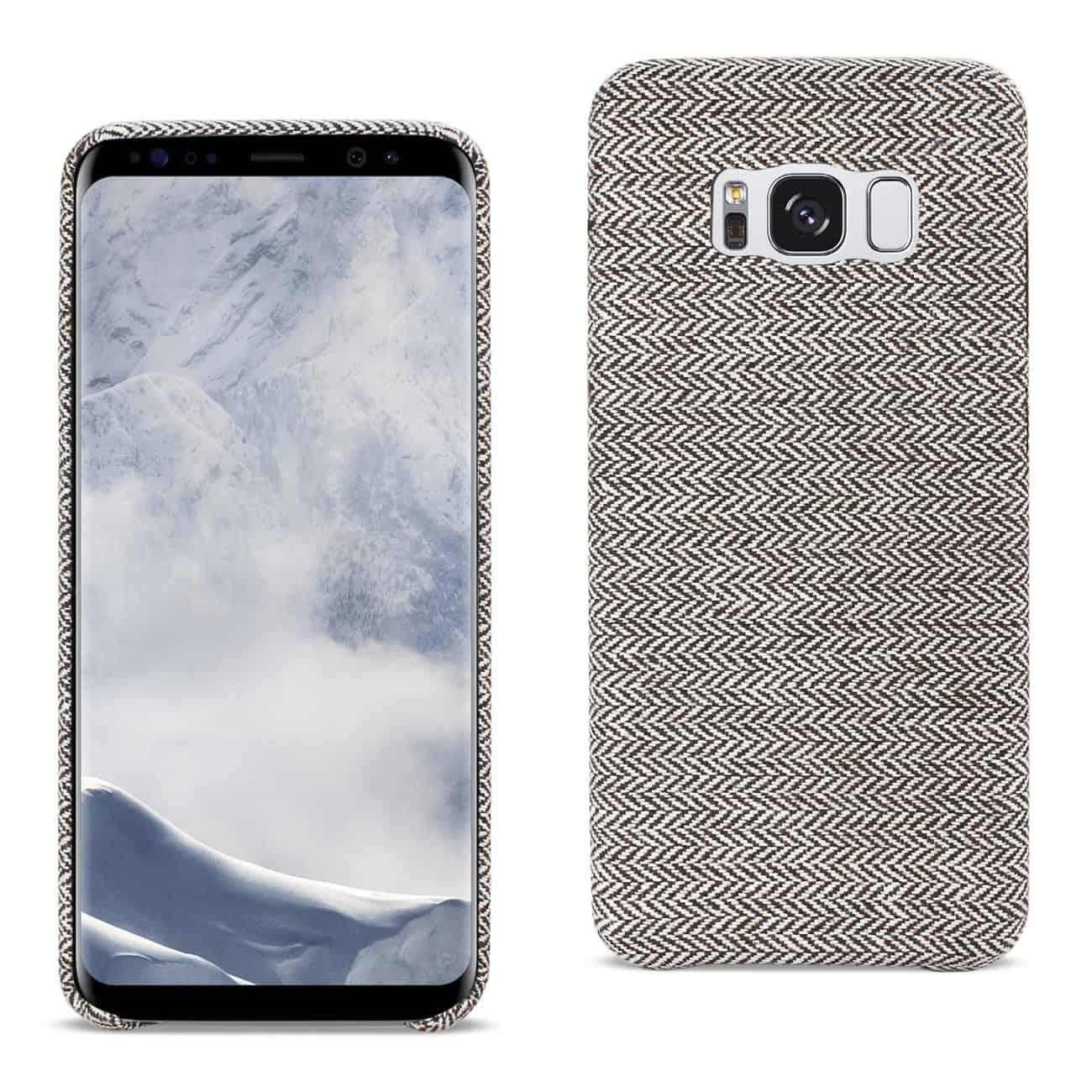 SAMSUNG GALAXY S8 HERRINGBONE FABRIC IN DARK GRAY