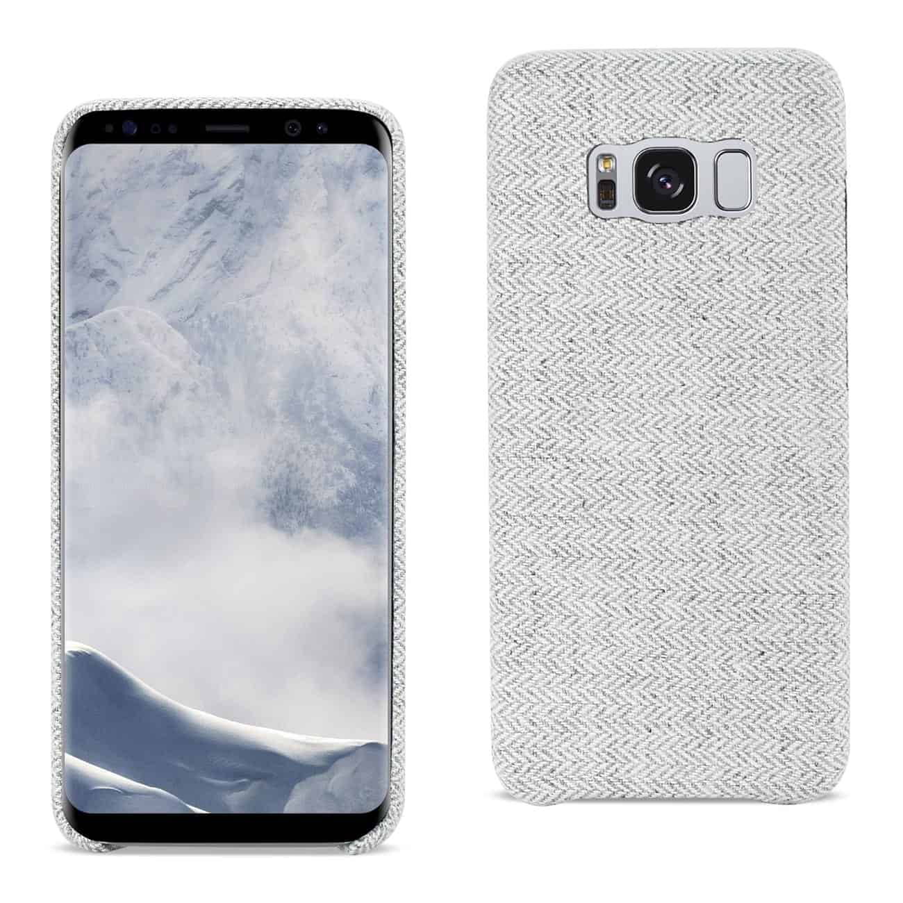 SAMSUNG GALAXY S8 HERRINGBONE FABRIC IN LIGHT GRAY