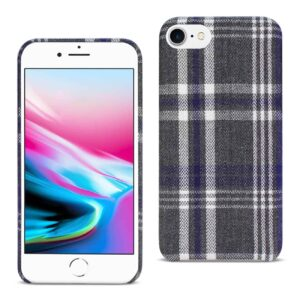 iPhone 8 Checked Fabric In Black