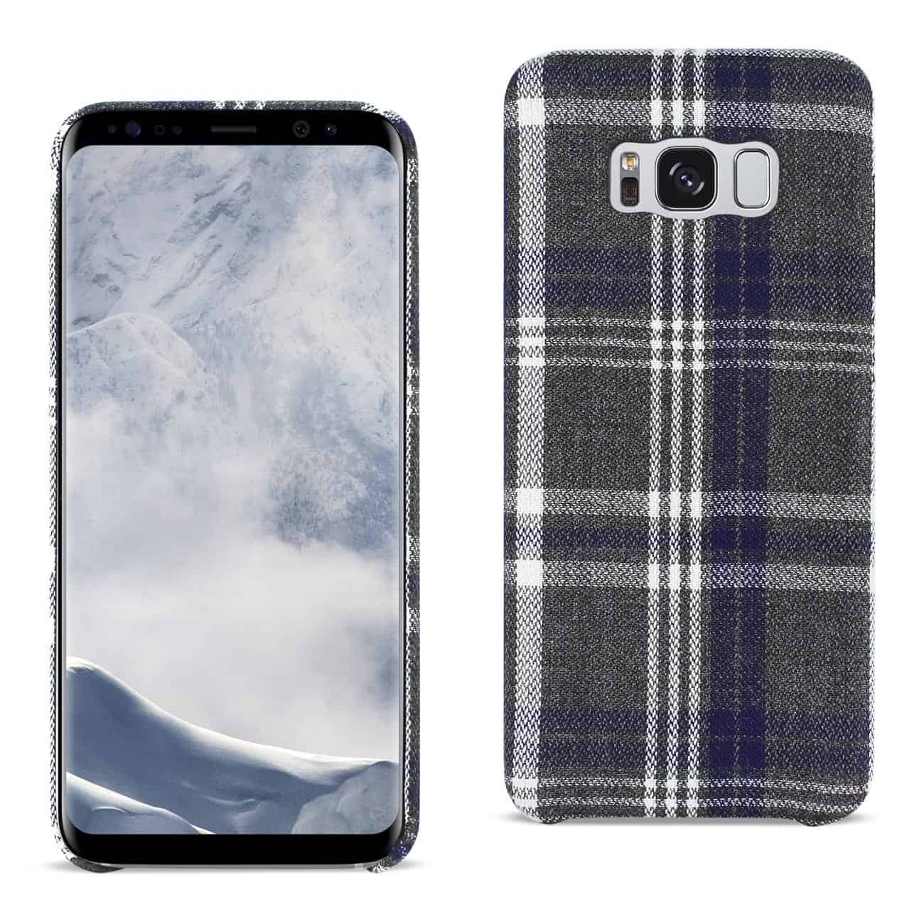 Samsung Galaxy S8 Edge Checked Fabric In Black