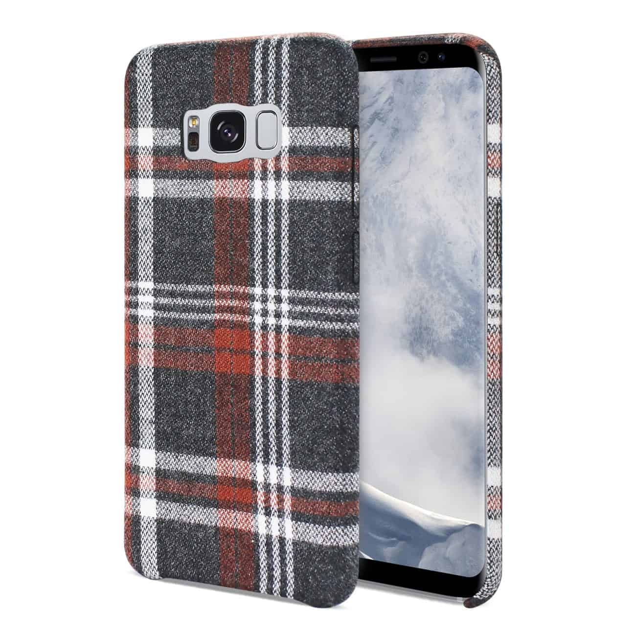 Samsung Galaxy S8 Edge Checked Fabric In Brown