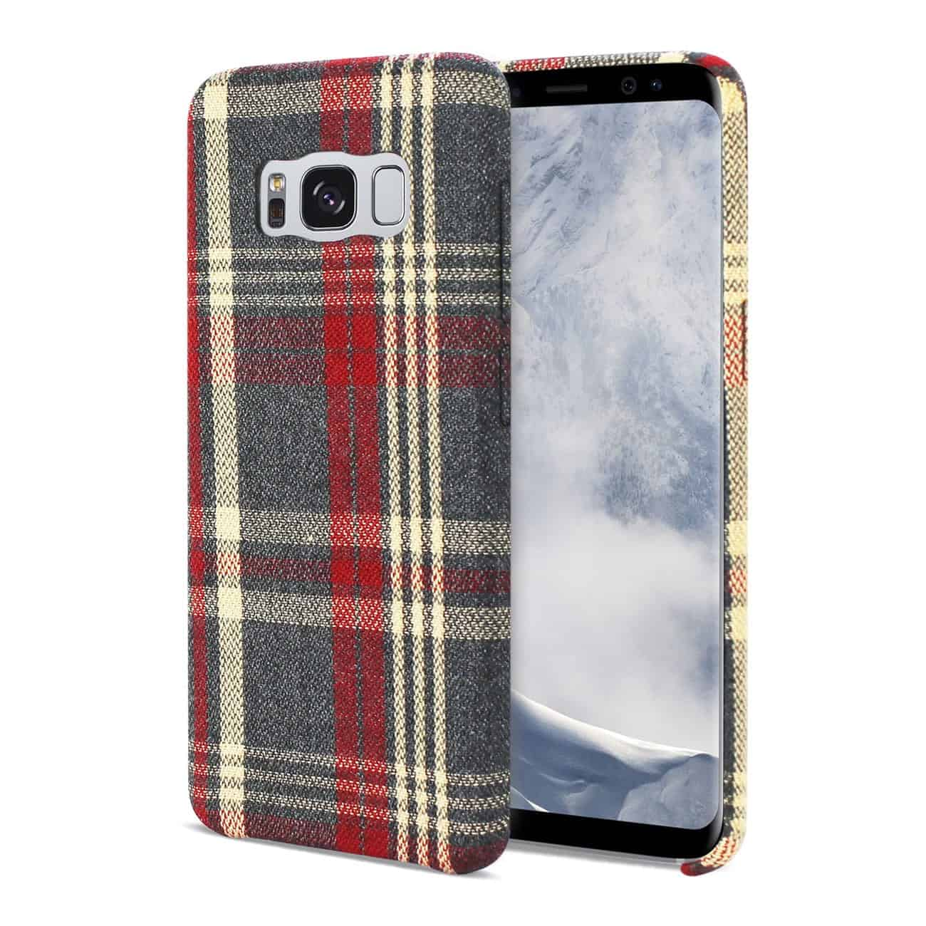 Samsung Galaxy S8 Edge Checked Fabric In Red