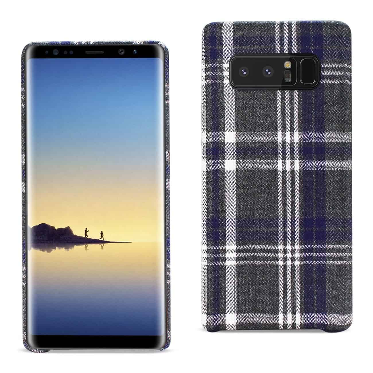 Samsung Galaxy Note 8 Checked Fabric In Black