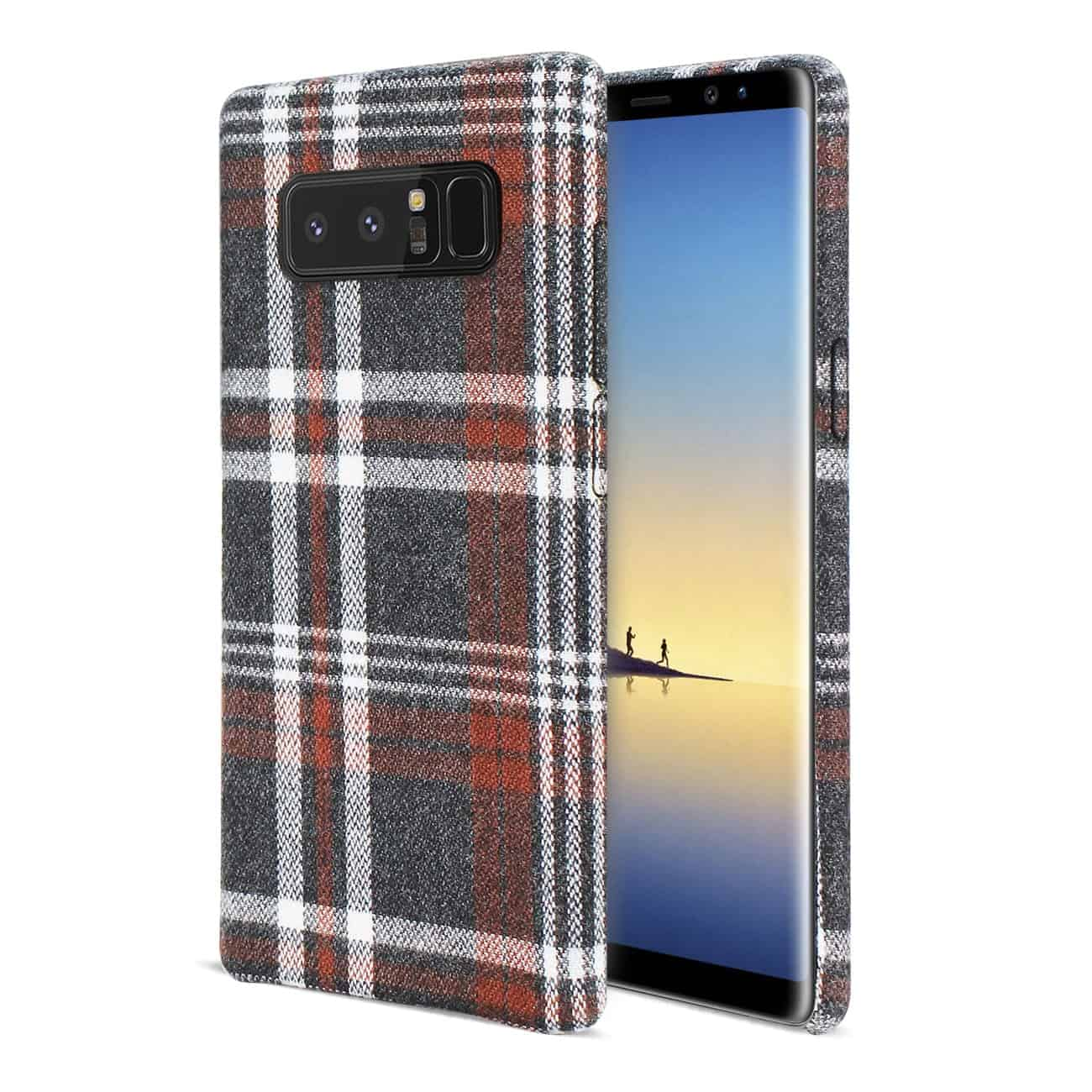 Samsung Galaxy Note 8 Checked Fabric In Brown