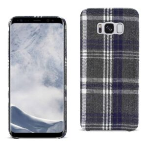 Samsung Galaxy S8 Checked Fabric In Black