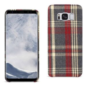 Samsung Galaxy S8 Checked Fabric In Red