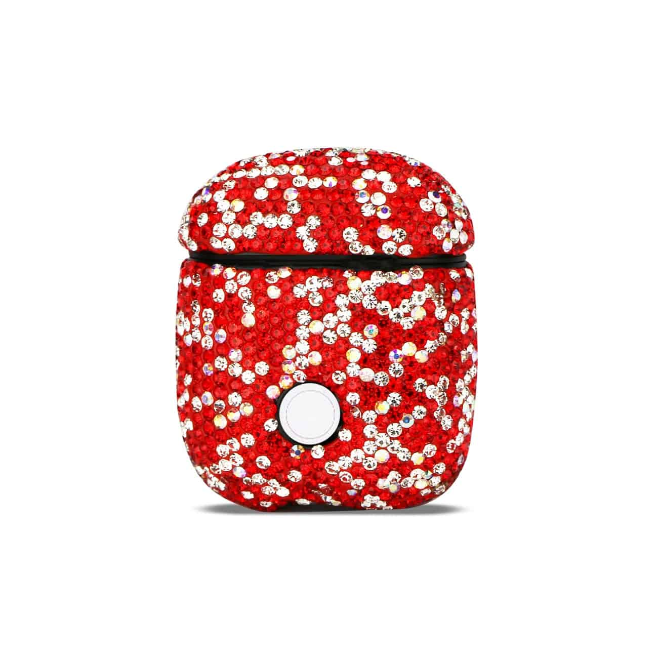 Case with Diamond for Airpods in Red