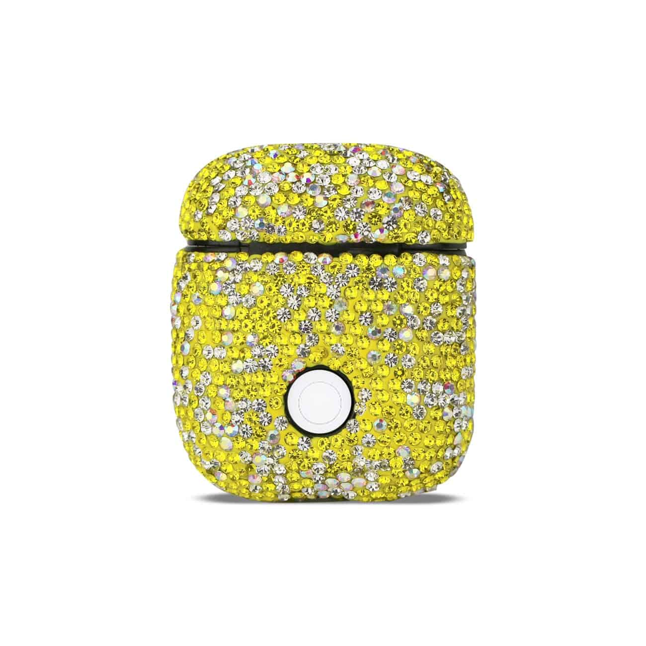 Case with Diamond for Airpods in Yellow