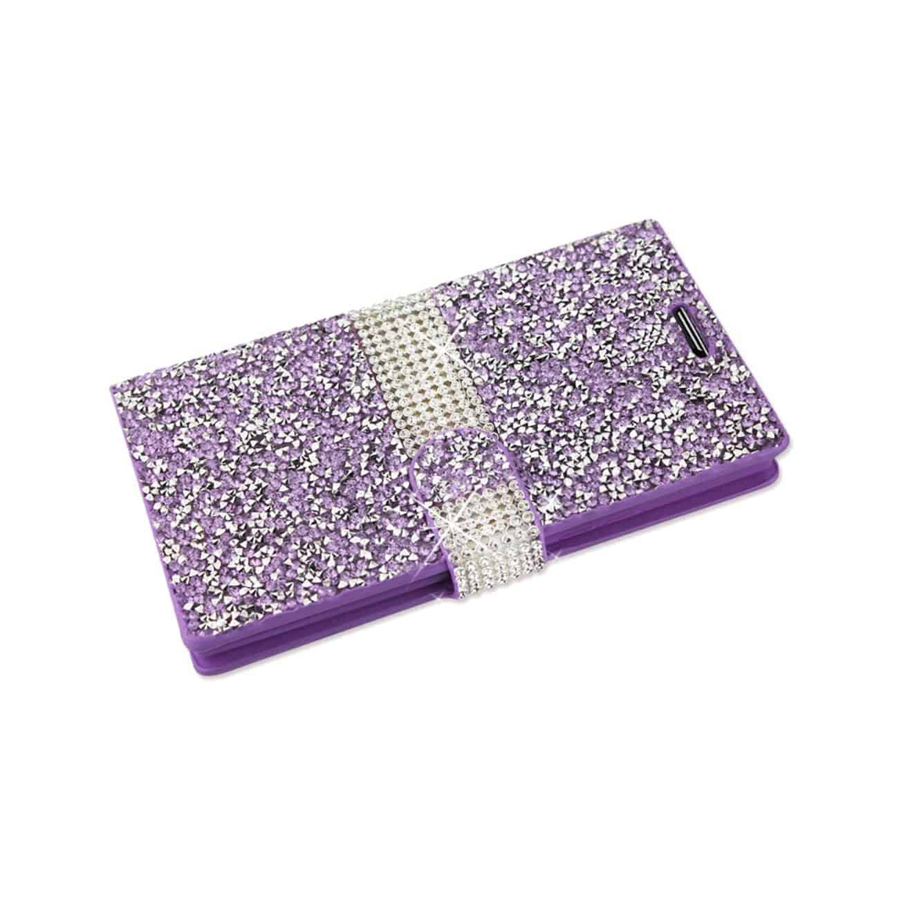 LG SPREE JEWELRY RHINESTONE WALLET CASE IN PURPLE
