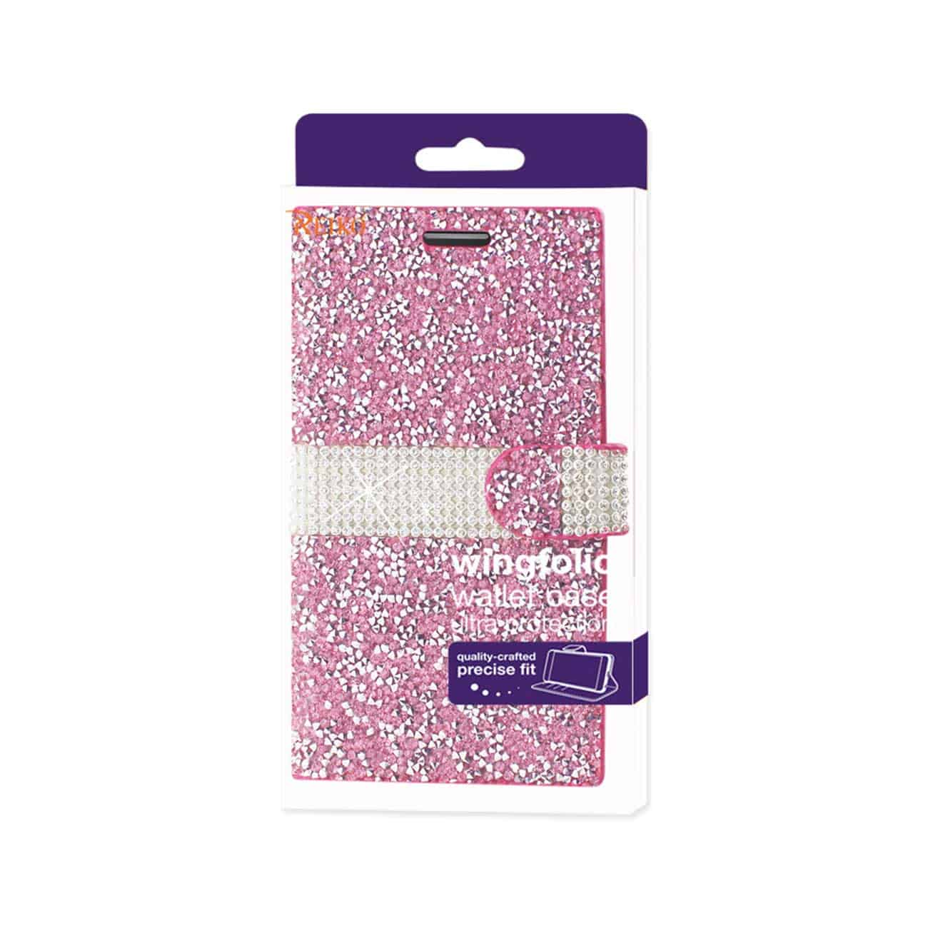 SAMSUNG GALAXY J7 JEWELRY RHINESTONE WALLET CASE IN PINK