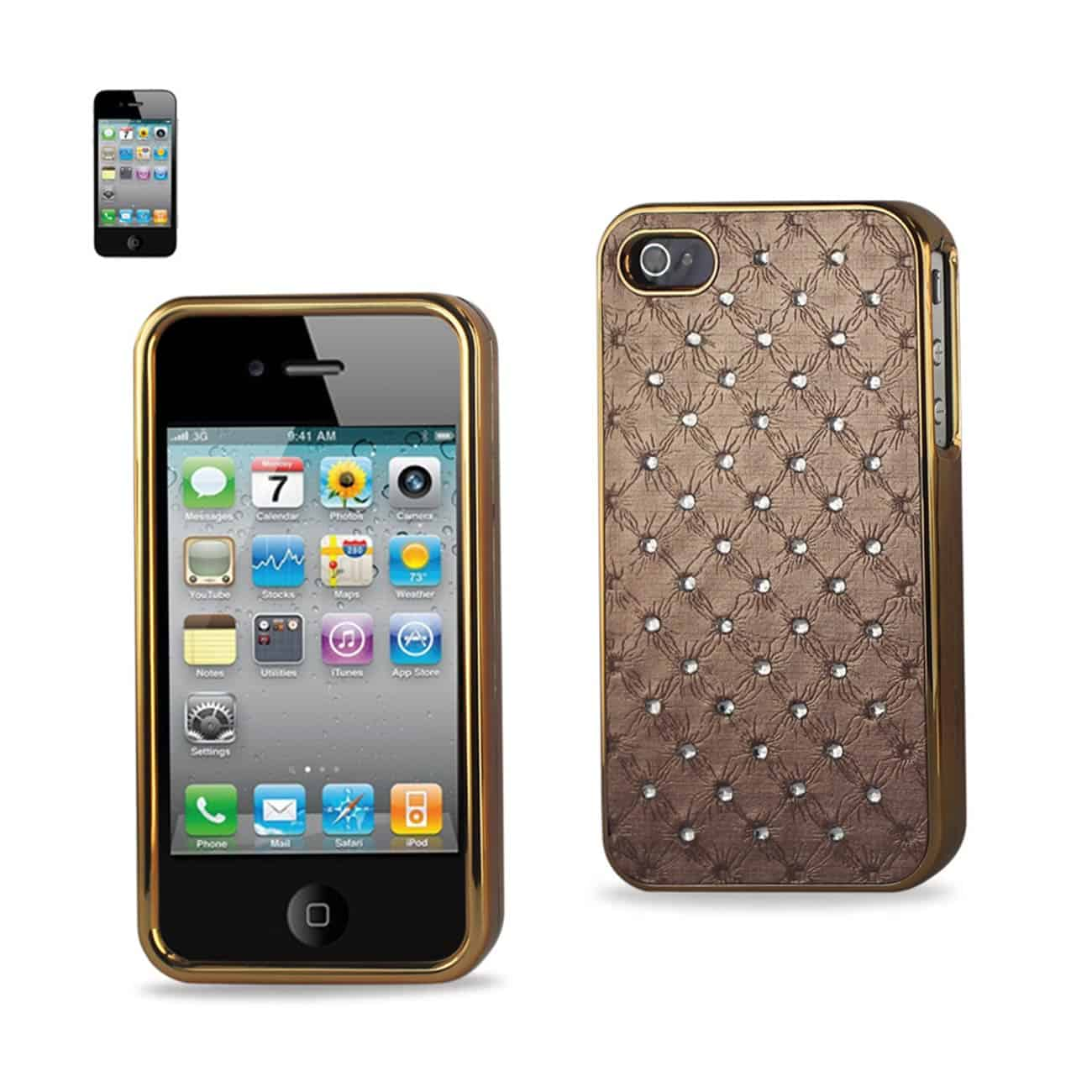 IPHONE 4G JEWELRY DIAMOND STUDS CASE IN BEIGE