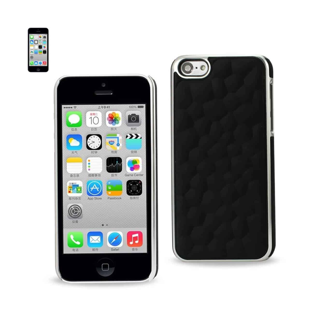 IPHONE SE/ 5S/ 5 BUBBLE METAL PLATED CASE IN BLACK