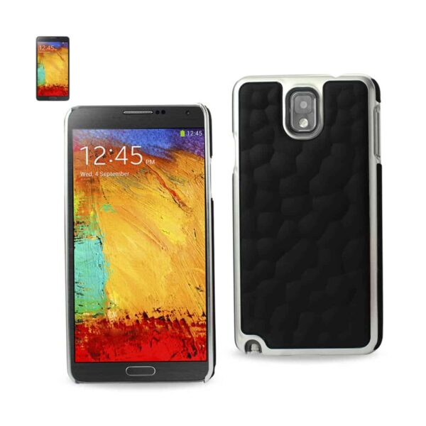 SAMSUNG GALAXY NOTE 3 BUBBLE METAL PLATED CASE IN BLACK