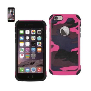 IPHONE 6 PLUS HYBRID LEATHER CAMOUFLAGE CASE IN PINK