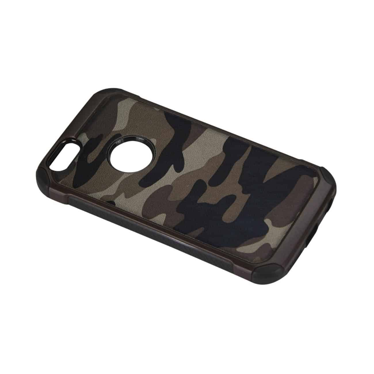 IPHONE 5C HYBRID LEATHER CAMOUFLAGE CASE IN BROWN