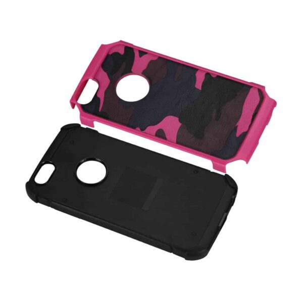IPHONE 5C HYBRID LEATHER CAMOUFLAGE CASE IN PINK