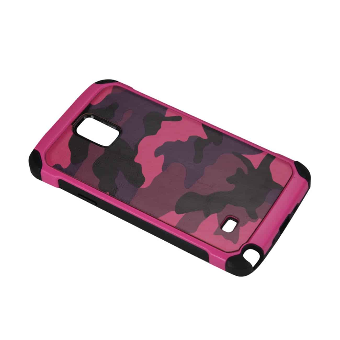 SAMSUNG GALAXY NOTE 4 HYBRID LEATHER CAMOUFLAGE CASE IN PINK