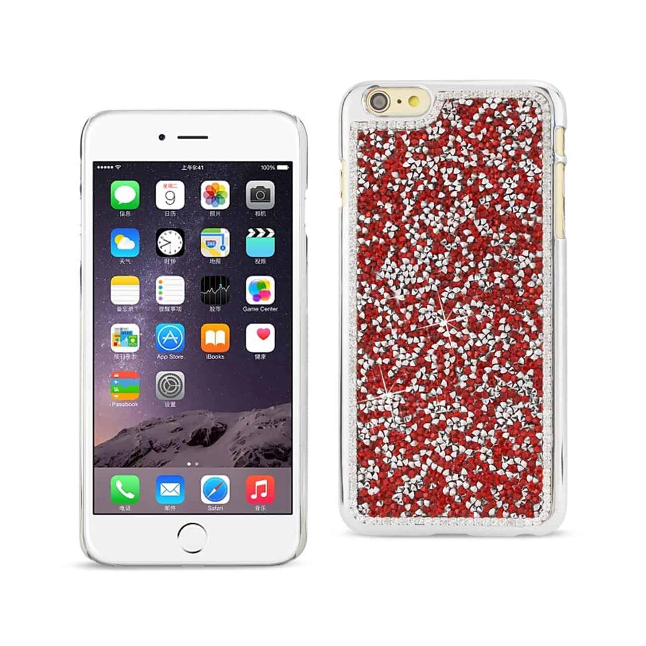 IPHONE 6 PLUS/ 6S PLUS JEWELRY BLING RHINESTONE CASE IN RED