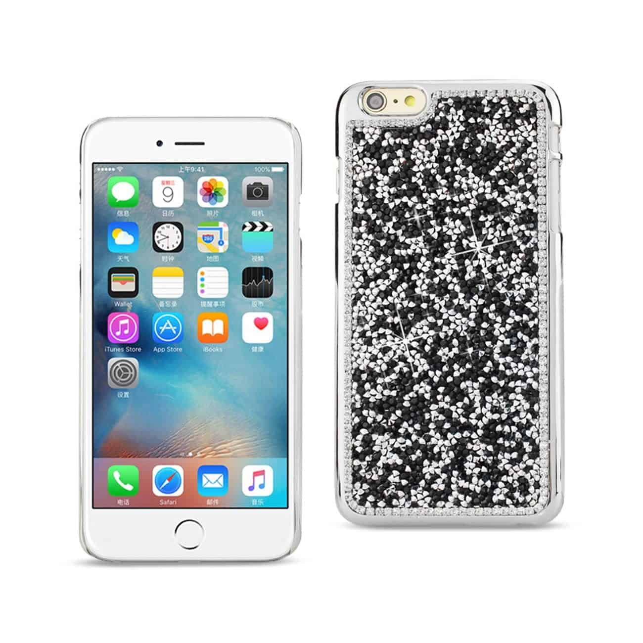 IPHONE 6S/ IPHONE 6 JEWELRY BLING RHINESTONE CASE IN BLACK